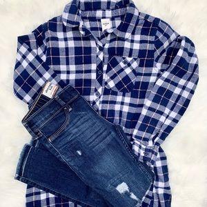 Bundle💕girls abercrombie kids jeans/Oshkosh shirt